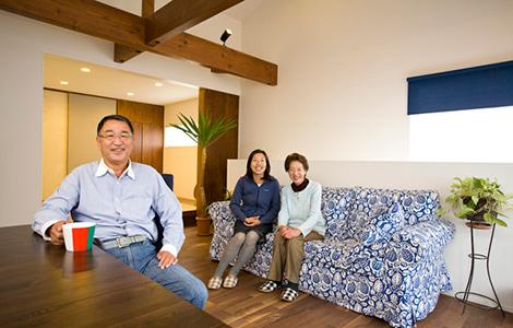 三世代が楽しく暮らす住宅。